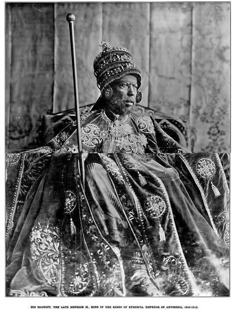 His Majesty Menelik II, King of the Kings of Ethiopia, Emperor of Abyssinia 1844-1913