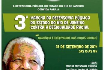 Convite para 3ª Marcha contra a desigualdade racial