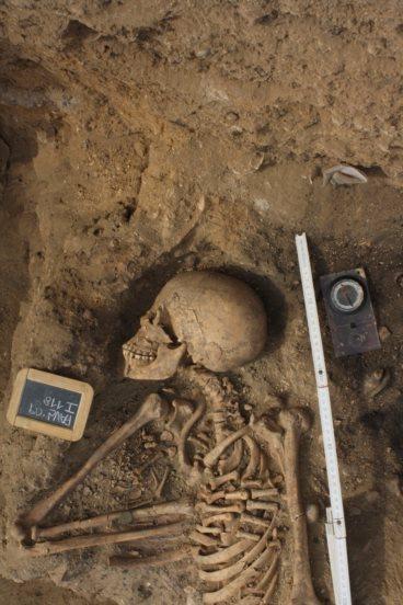 Esqueleto encontrado em 2009 em Lagos no cemitério de africanos do século XVFOTO CEDIDA POR ISABEL CASTRO HENRIQUES