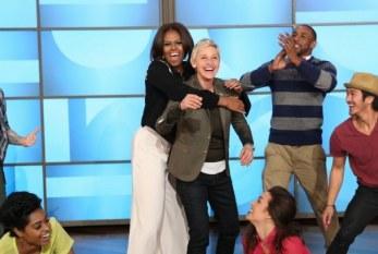 "Michelle Obama arrasa na coreografia de ""Uptown Funk"", na Ellen"