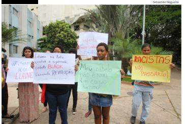 Protesto contra racismo Hospital das Clínicas de Goiânia