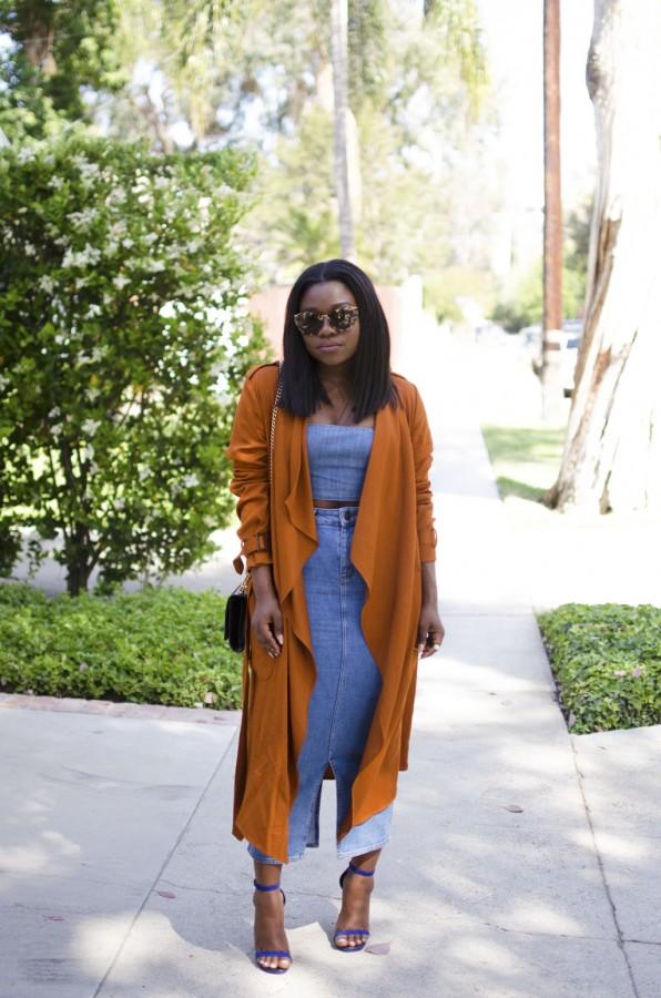 double-denim-midi-skirt-rust-trench-coat-spring-summer-2015-style-mirror-me-1