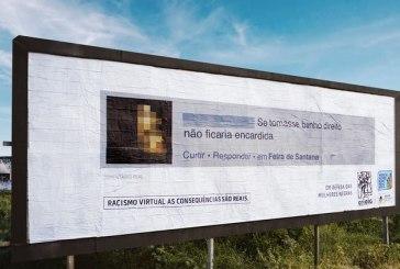 ONG  espalha outdoors pelo País mostrando ofensas racistas contra Maju