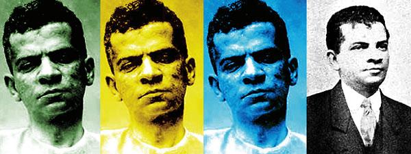 Montagem com fotos de Lima Barreto (fonte: Jornal da Unicamp)