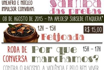 O Samba das pretas em marcha, participe!
