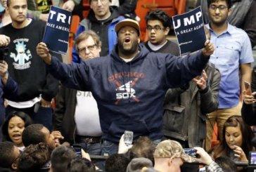 Manifestantes negros interrompem comício racista de Trump em Chicago