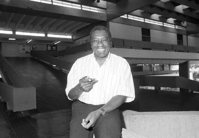 Milton de Almeida Santos, geográfo, professor da FFLCH - foto Jorge Maruta