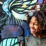 Rapper mirim MC Soffia se apresenta em evento do Mês da Consciência Negra