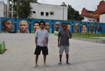 Grafites no centro do Rio homenageiam atletas da Equipe Olímpica de Refugiados