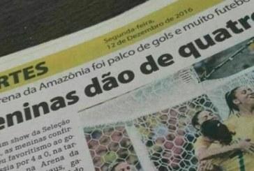 """""""Meninas dão de quatro"""", diz jornal em manchete sobre vitória da seleção feminina"""