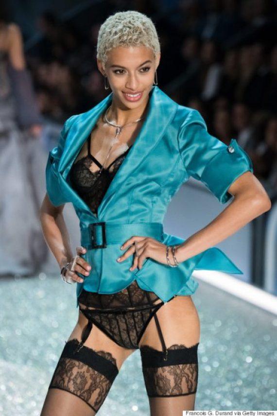 PARIS, FRANCE - NOVEMBER 30: Jourdana Phillips walks the runway at the Victoria's Secret Fashion Show on November 30, 2016 in Paris, France. (Photo by Francois G. Durand/WireImage)