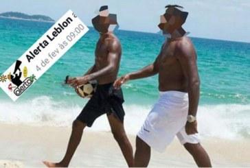 Nota: Não é exposição de homens negros, é denuncia fiel de uma pagina racista!