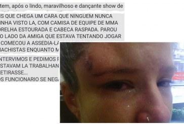 """Homem espanca mulher em bar no Rio e justifica: """"não é hora de estar na rua"""""""