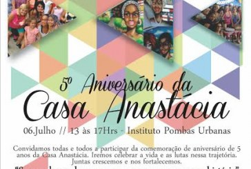 Comemoração de aniversário de 5 anos da Casa Anastácia