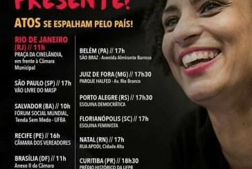 Acompanhe mobilizações pelo país contra o assassinato de #MariellePresente