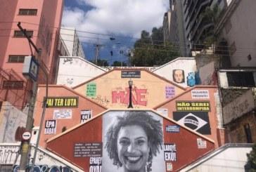 Painel com rosto de Marielle é restaurado após ser alvo de vandalismo em SP