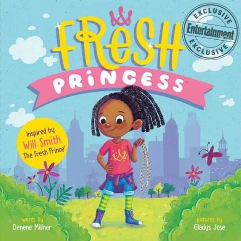 """Ilustração da capa do Livro """"Fresh Princess"""" onde mostra uma menina negra em um parque"""