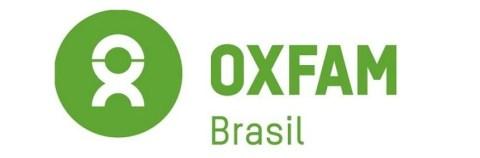 Logo da Oxfam Brasil, o nome da empresa escrita com letras na cor verde