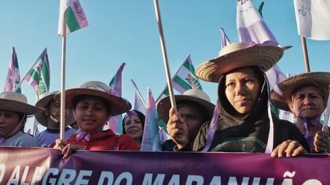 Mulheres duranta a Marcha das Margaridas 2019