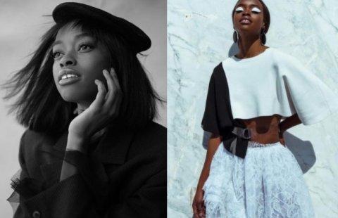 Anne Barreto, mulher negra de cabelo liso curo, em uma sequencia de duas fotos distintas