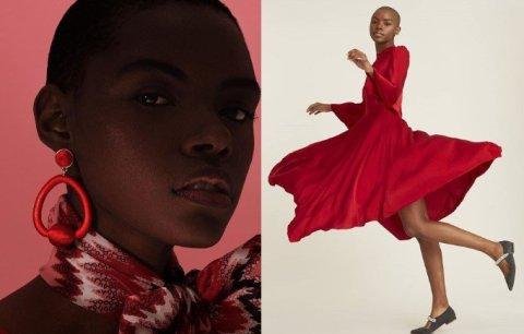 Natasha Soares, mulher negra careca, em uma sequencia de fotos distintas