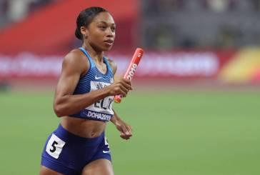Allyson Felix bate recorde de Bolt em mundiais