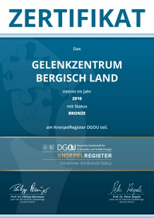 KnorpelRegister-Teilnehmerurkunde_Bronze_2016_BergischLand