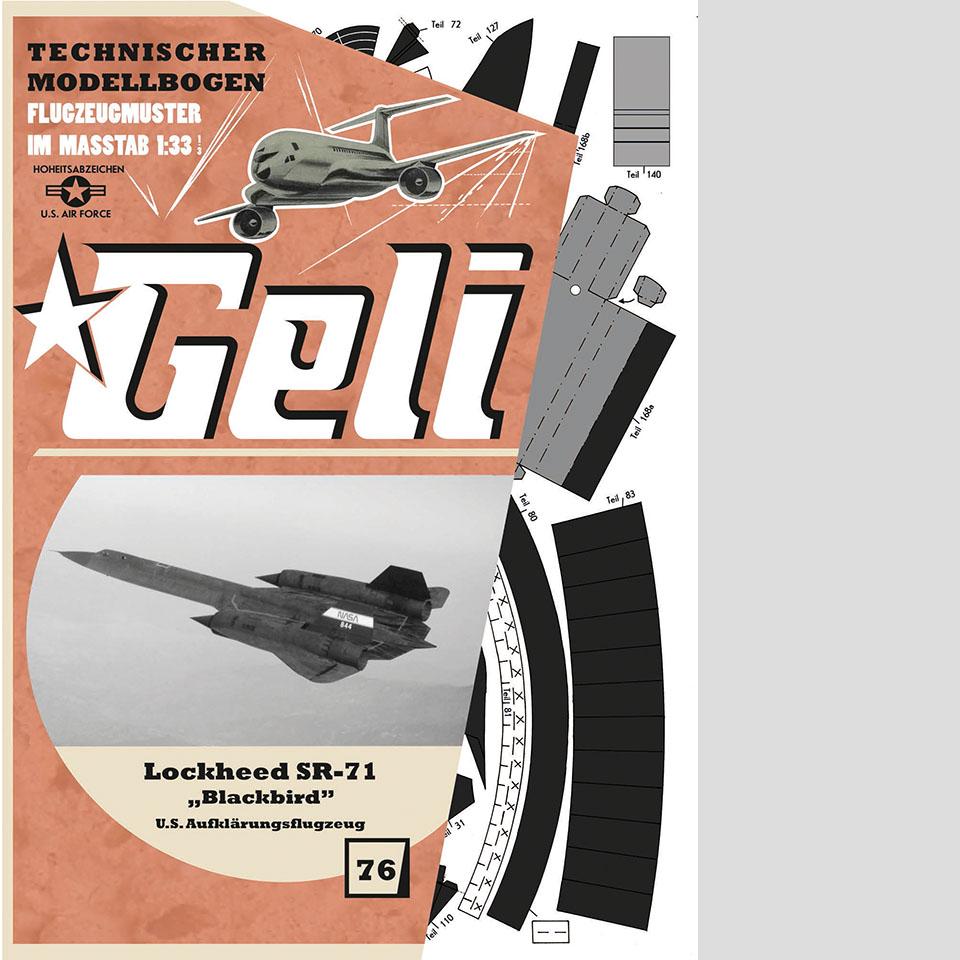 Lockheed SR 71 Blackbird Art.Nr. 34076