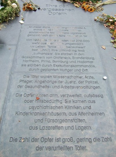 Zum Gedenken an die Opfer der NS-Krankenmorde