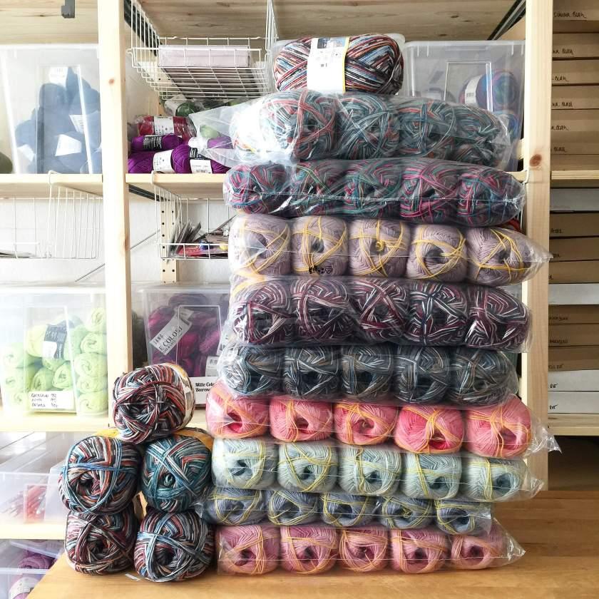 Neue Sockenwolle im Woll-Lager!