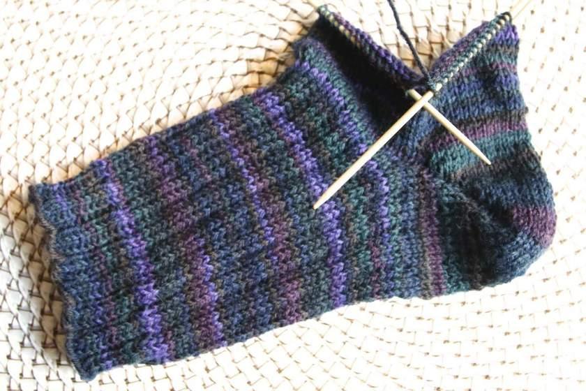 Socken Stricken Mit Gemacht Mit Liebe Und Schönen Mustern