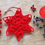 Einen Stern häkeln – freies Tutorial // Adventskalender Tag 1