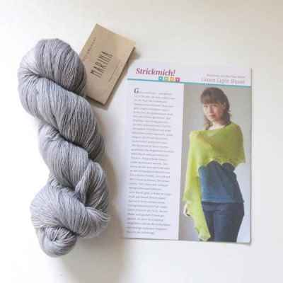 Strickkit Green Light Shawl Marina