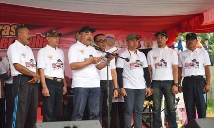 Penjabat Sekda Kab. Tasikmalaya Hadiri Deklarasi Damai dan Anti Kekerasan Sekaligus HUT Bhayangkara Ke-73