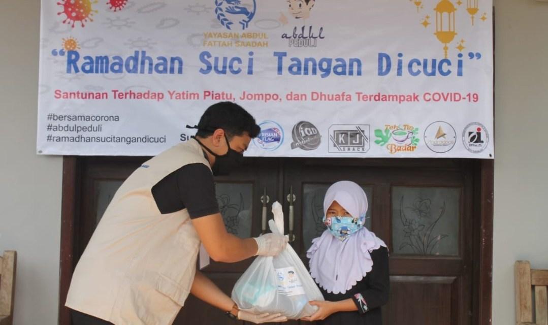 Ramadan Suci Tangan Dicuci, Yayasan Abdul Fattah Saadah Bagikan 300 Paket Sembako