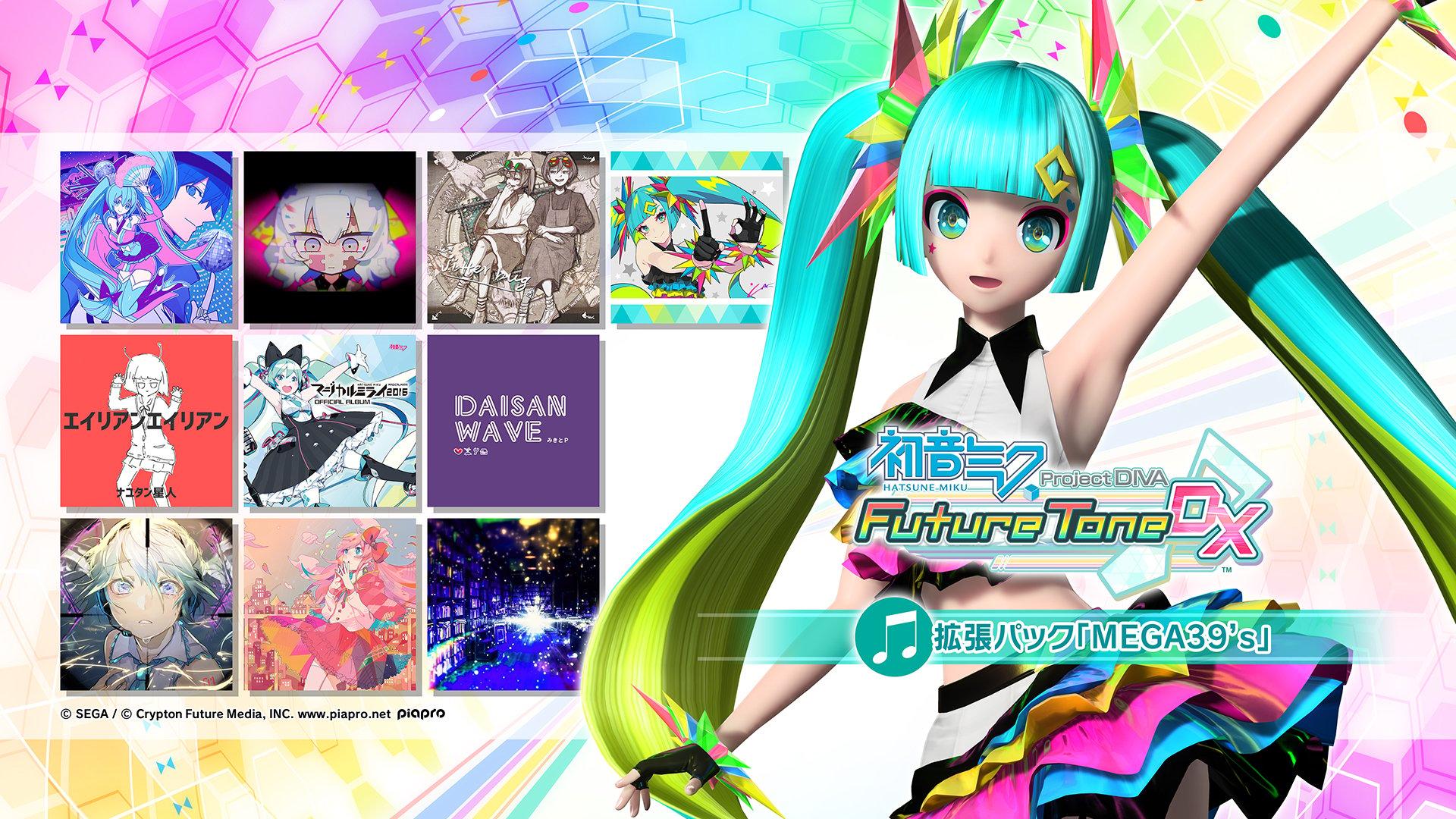 Hatsune Miku Project Diva Future Tone Dlc Mega Mix Expansion Pack Launches July 2 In Japan Update Gematsu