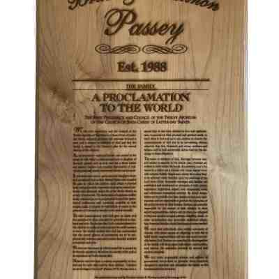 Family Proclamation Plaque