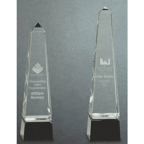 Tower Pyramid Trophy with Black Base