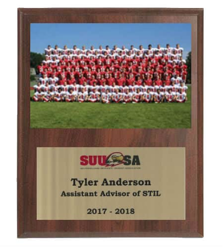 Sublimated Team Plaque