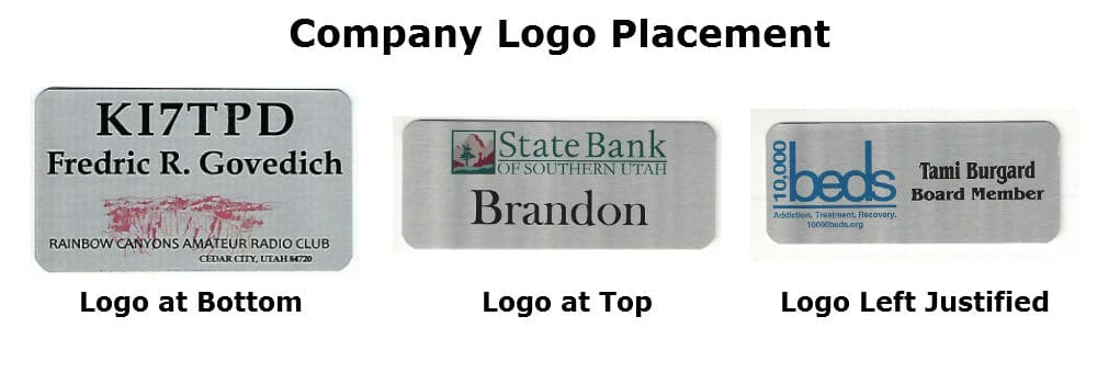 Company Logo Placement on Name Tags