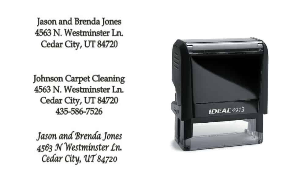 Self Inking Address Stamps