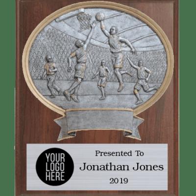 Legends Male Basketball Plaque