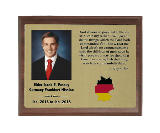 Full Color Missionary Plaques