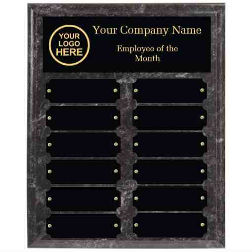 Black employee of the month plaque