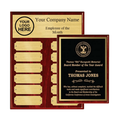 Employee of the month piano finish plaques package