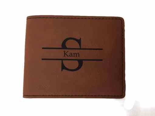 Engraved Monogram Wallet