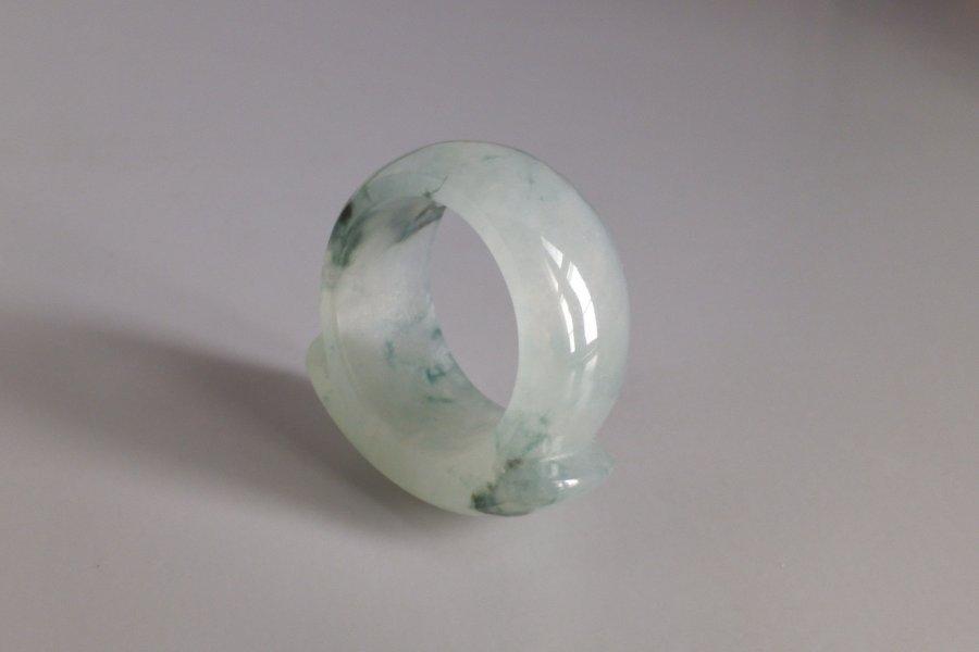Jadeite Jade Saddle Ring Men 10.75
