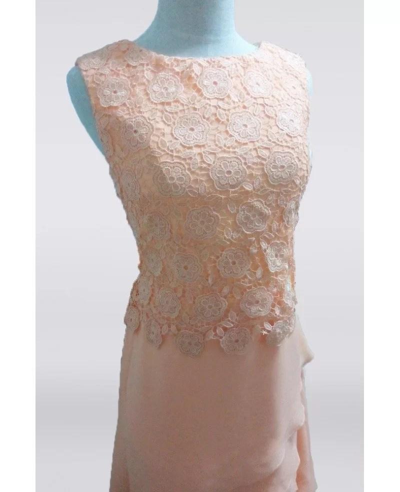 Coral Lace Mother Bride Dresses