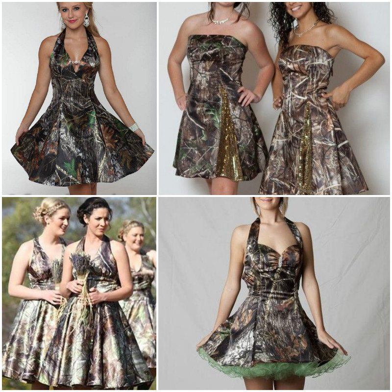 classic camo dresses bridesmaid