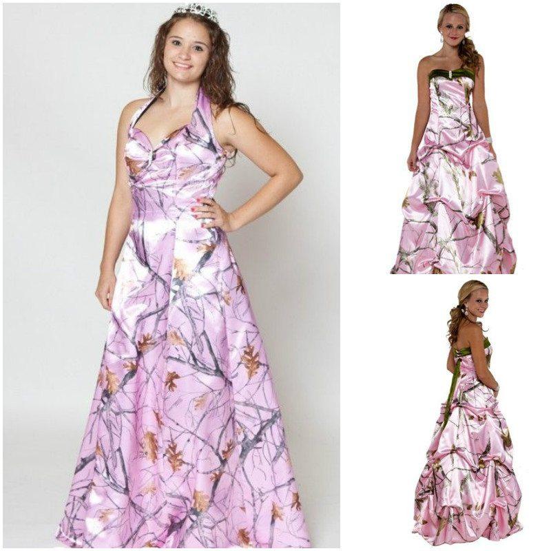 pink camo dress bridesmaid